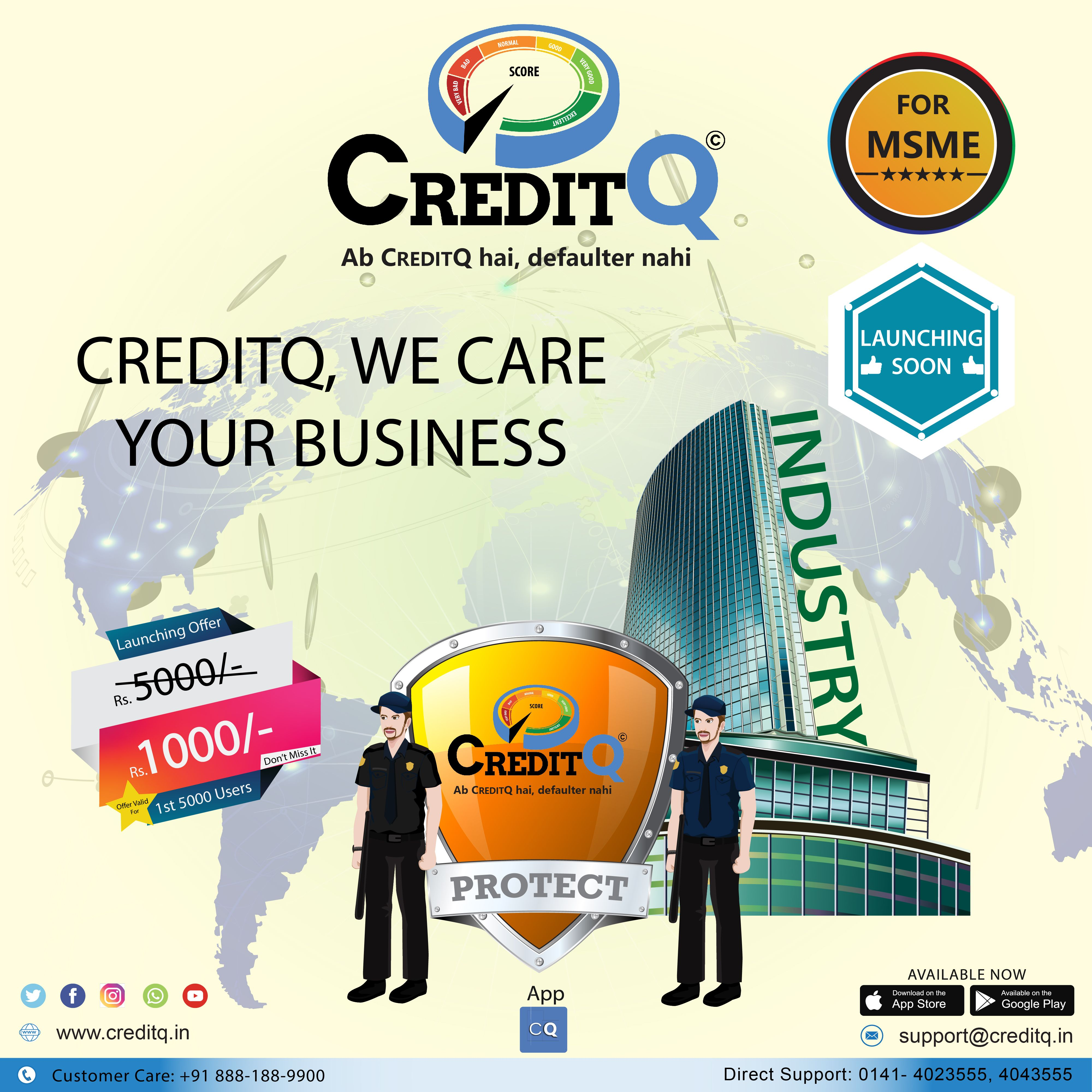 CreditQ App Launching Soon At 👉 Play Store & Apple Store