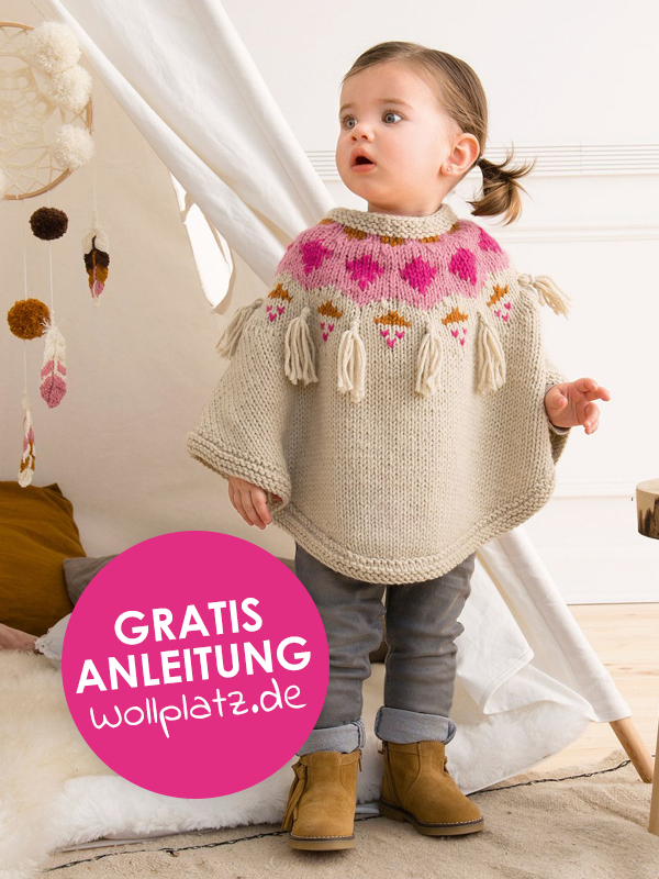 Photo of Damenponcho in einer mustermixfreien Strickanleitung – Welcome to Blog