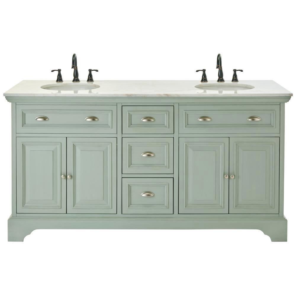 home depot bathroom double vanities