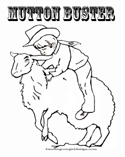 mutton buster rodeo coloring page free printable - Rodeo Coloring Pages