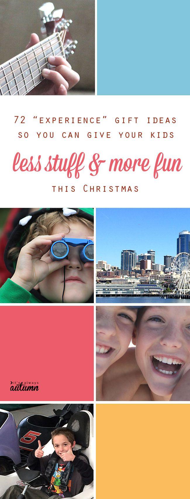 christmas gift ideas experiences