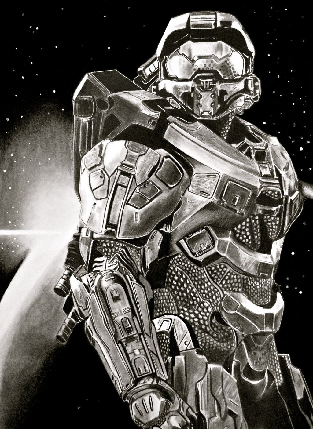 halo master chief by paul shanghai