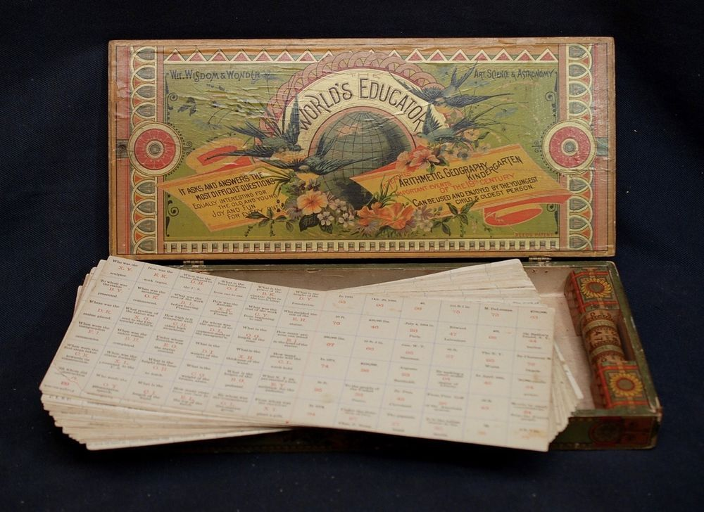 #Reedtoys #antique #toys  Antique World's Educator Game W.S. Reed Toy Co. Litho on Wood ca.1887