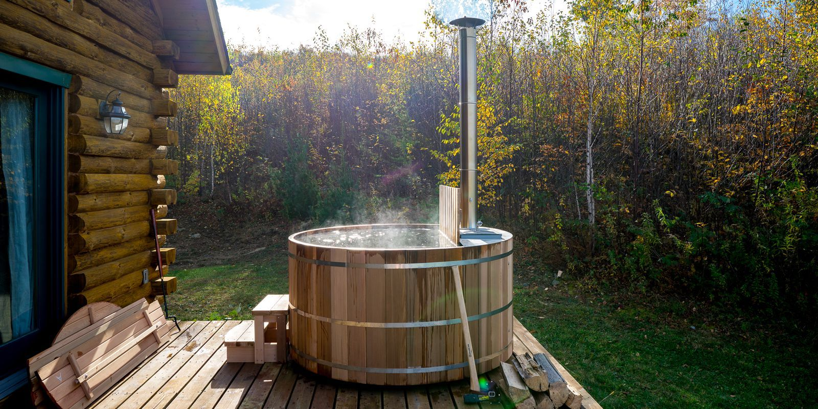 How to build a woodfired hot tub hot tub garden rustic