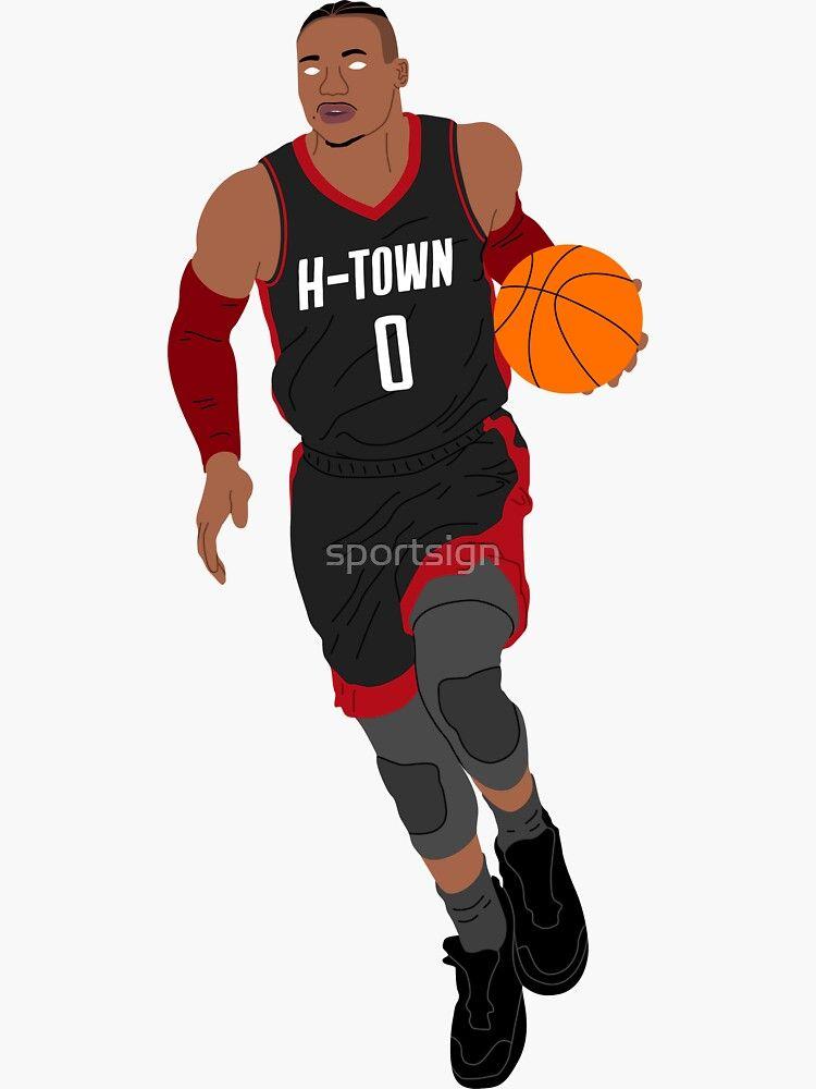 Russell Westbrook Houston Basketball Sticker By Sportsign Russell Westbrook Houston Basketball Westbrook