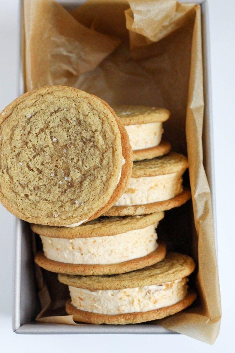 Salted Brown Sugar Butterscotch Ice Cream Sandwiches | Dough-Eyed
