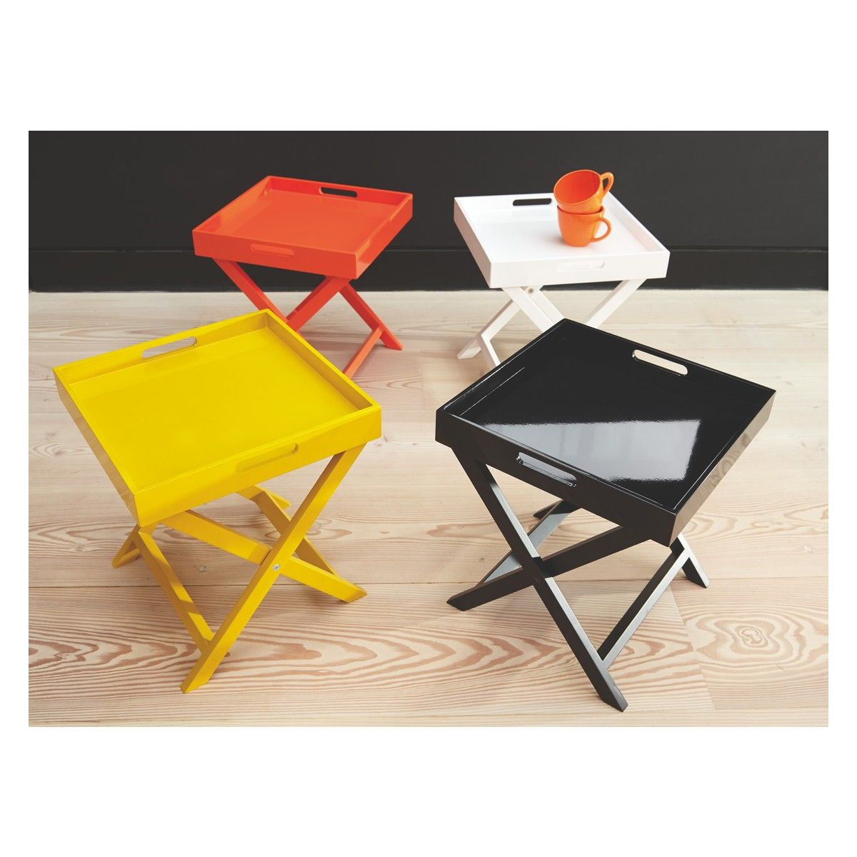 OKEN Neon Orange Folding Side Table
