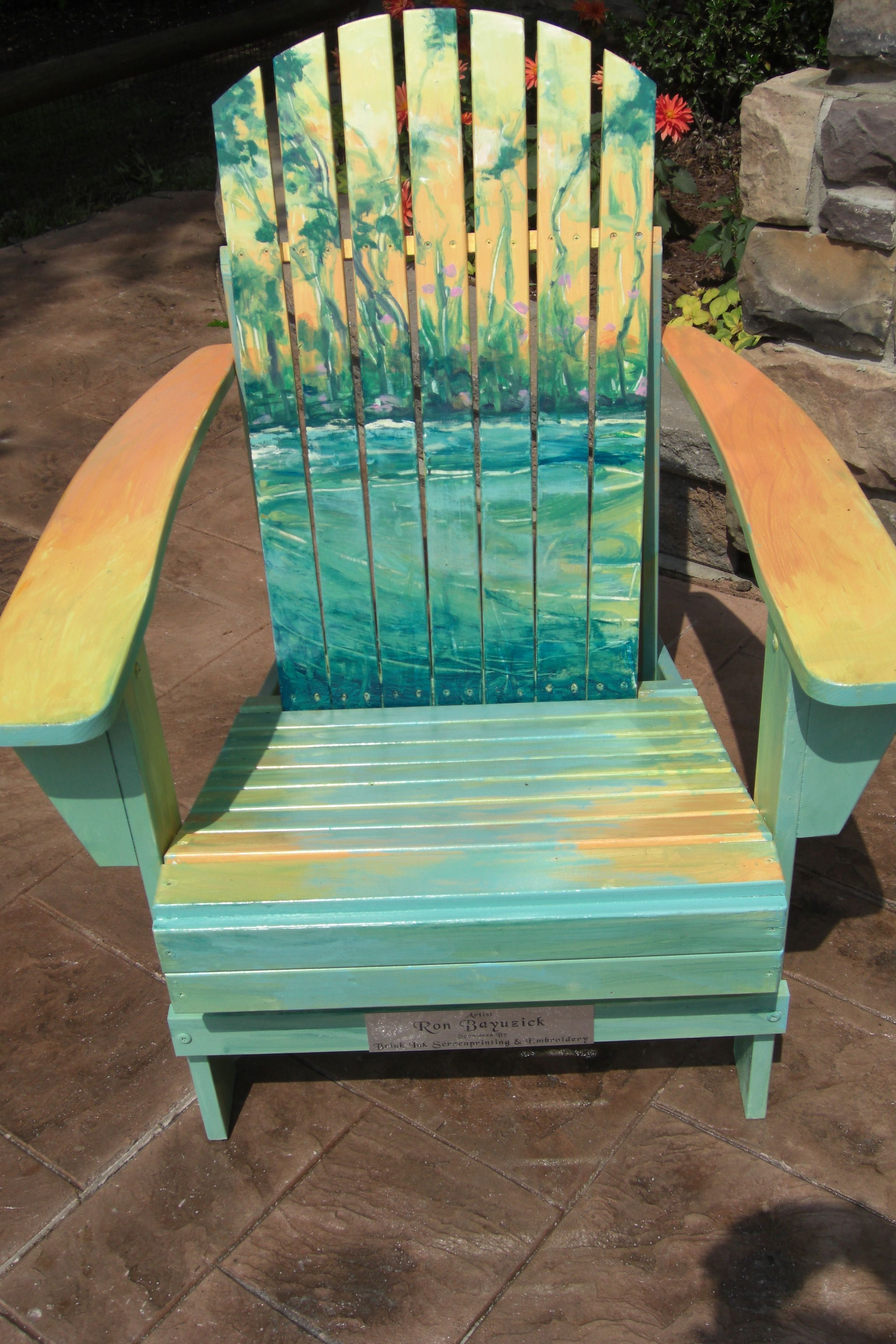 Painted Adirondack Chair For Lakeside Home Association In