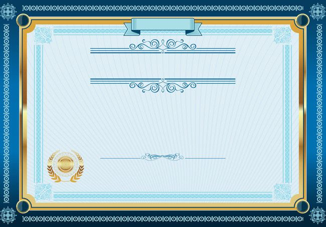 European Style Lace Vector Certificate Background Shading