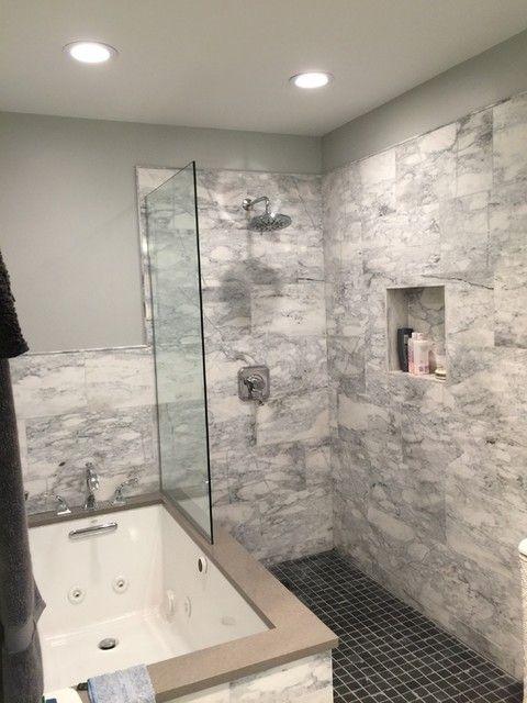 Elegant Bathroom Wall Tile   Waterford Carrara Polished Marble Floor Tile    12 X 24 In