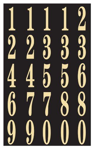 Hy Ko Mm 3n Self Stick Numbers 2 Black Gold More Info Http Www Laminatepanel Com Store Hy Ko Mm 3n Self St Cool Things To Buy Adhesive Vinyl Lettering