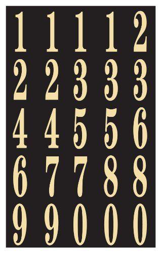 Hy Ko Mm 3n Self Stick Numbers 2 Black Gold More Info Http Www Laminatepanel Com Store Hy Ko Mm 3n Self St Cool Things To Buy Adhesive Vinyl Lettering