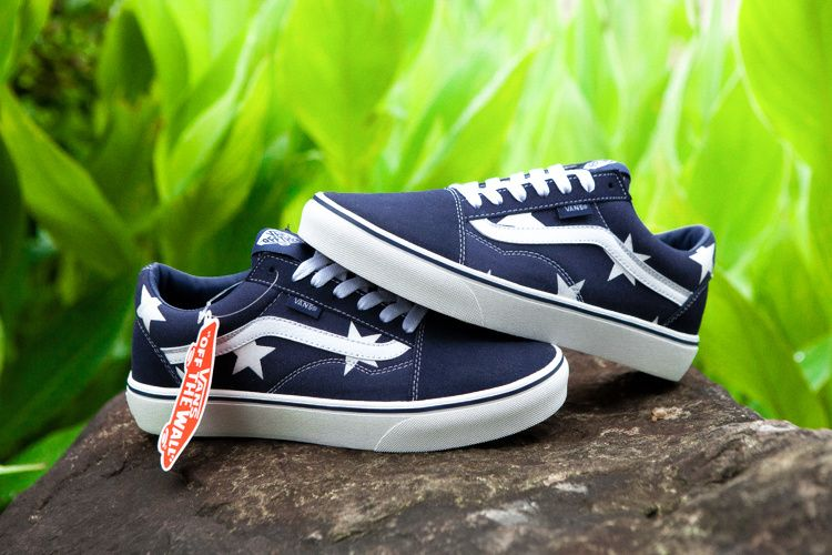 Vans Stars Old Skool Pro Classic Navy True White Men Shoes New Release