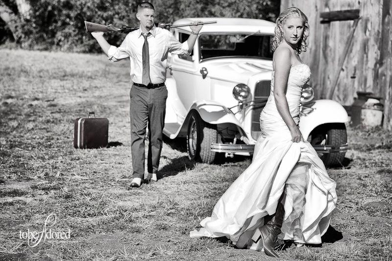 Y Bonnie And Clyde Theme At Cau La Joye Ca Vintage Wedding