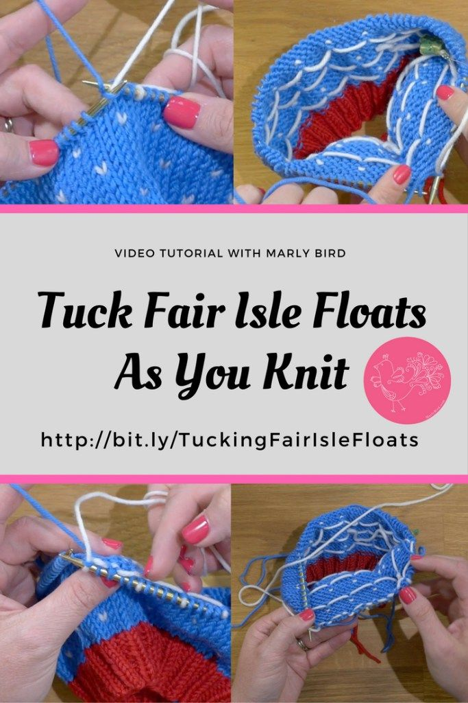 Learn how to keep your floats tidy and weave them in as you work ...
