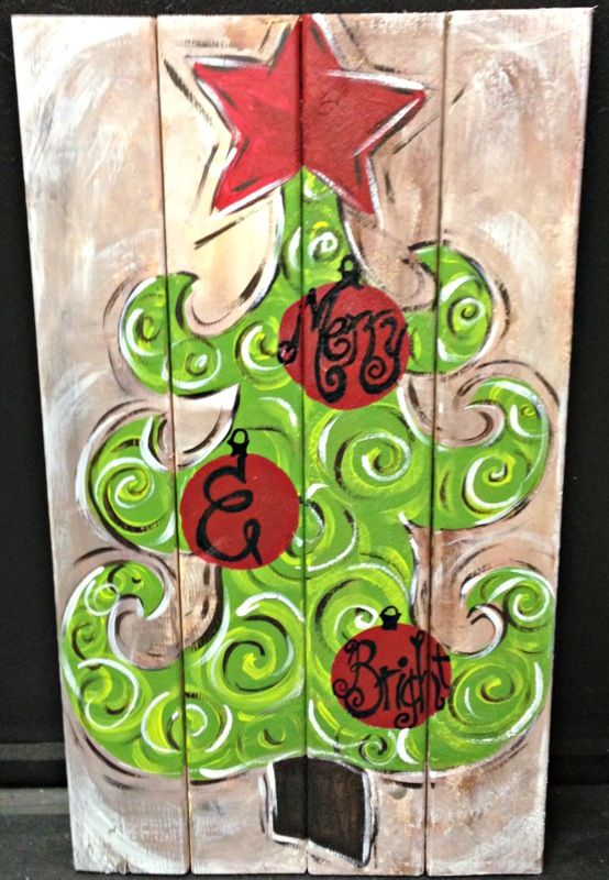 Whimsy Christmas Treewood Plank Would Also Be Cute With A Charlie