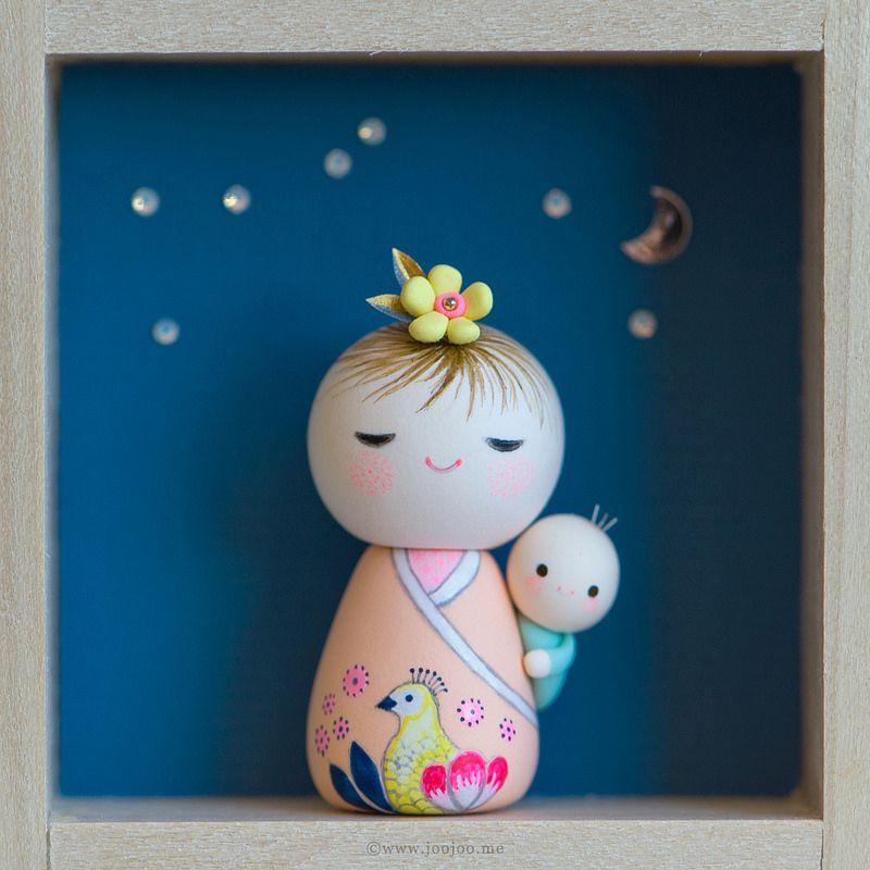 Nori and Yori . Kokeshi doll no. 7
