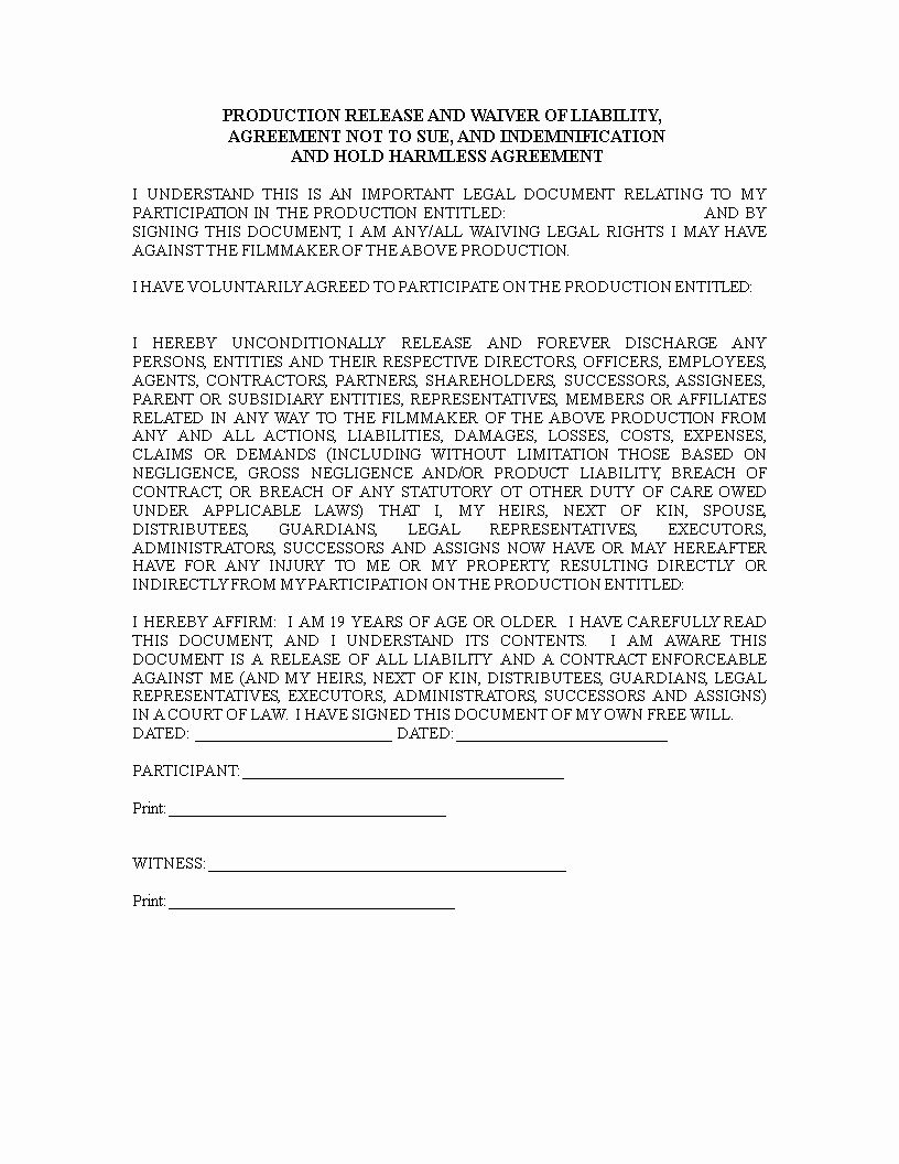 Free Liability Release Form Template Awesome Indemnity Waiver Template 24 Liability Waiver Form Liability Waiver Doctors Note Template Liability