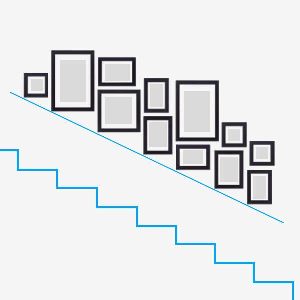 Treppenhaus gestalten mit Bilderrahmen von