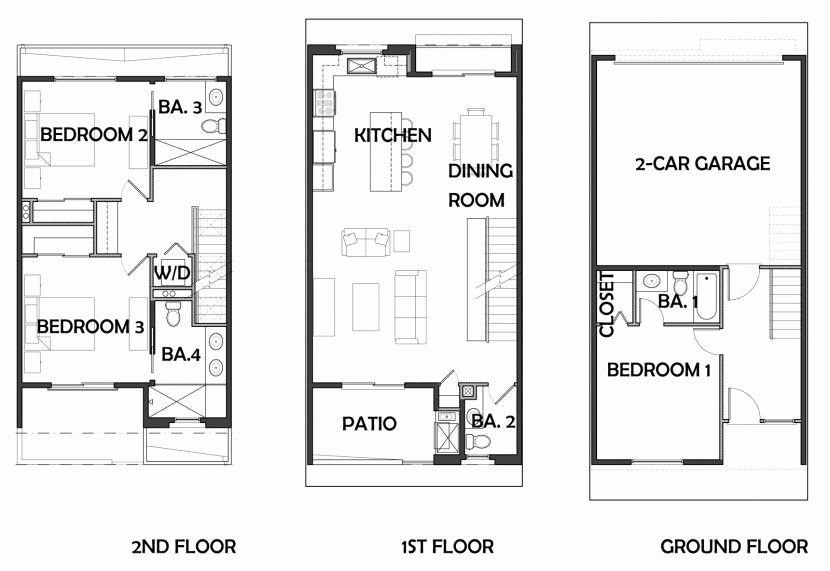Row House Floor Plans Best Of Row House Plans English Floor Plan Small 2 Story Main Momchuri Floor Plans House Plans Row House