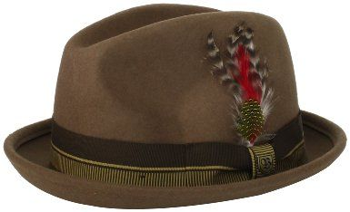Brixton Mens Gain Fedora-Tan