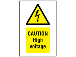 Caution High Voltage Symbol And Text Safety Sign Ws1220 Label Source Signs Text Signs Caution