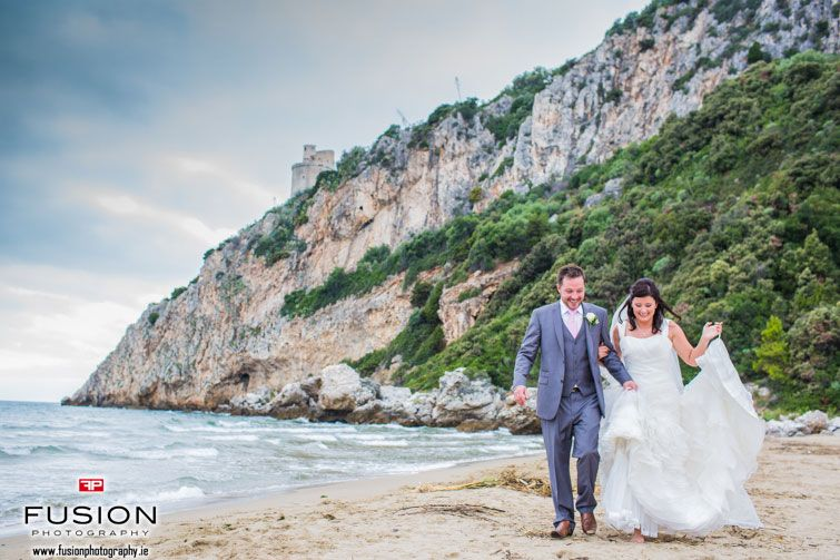 Under the beautiful Promontory of Circeo, Circeo National Park, Italy coastalbeach wedding