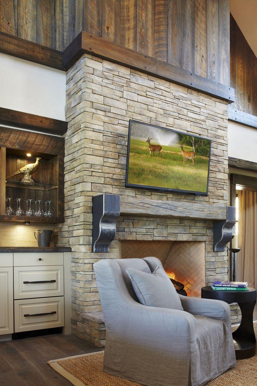 Dise o de interiores arquitectura rancho en florida con - Chimeneas interiores ...