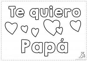 Te Quiero Papa Mama Abuelo Abuela Para Colorear Feliz
