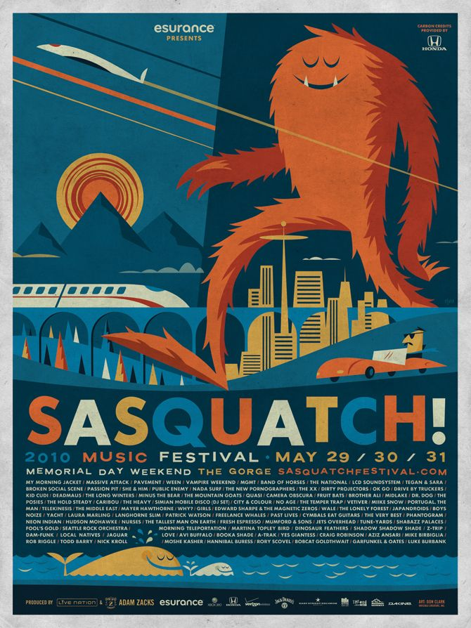 Sasquatch! Music Festival poster by Invisible Creature