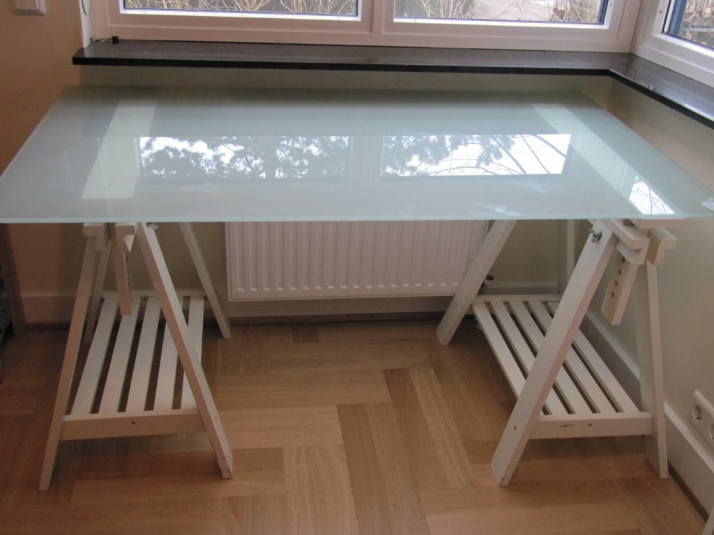 Nett Schreibtisch Mit Glasplatte Ikea Glas Schreibtisch Ikea
