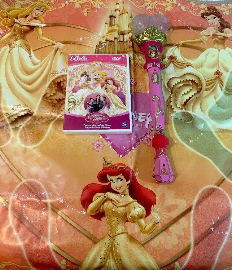 Bella Dancerella Enchanted Tales Disney Princess Dvd Mat Wand Dance Along Dvd Disney Princess Disney Wands