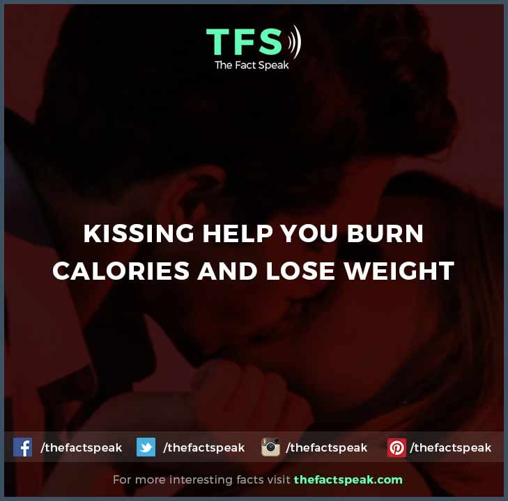 Kissing helps burn calories