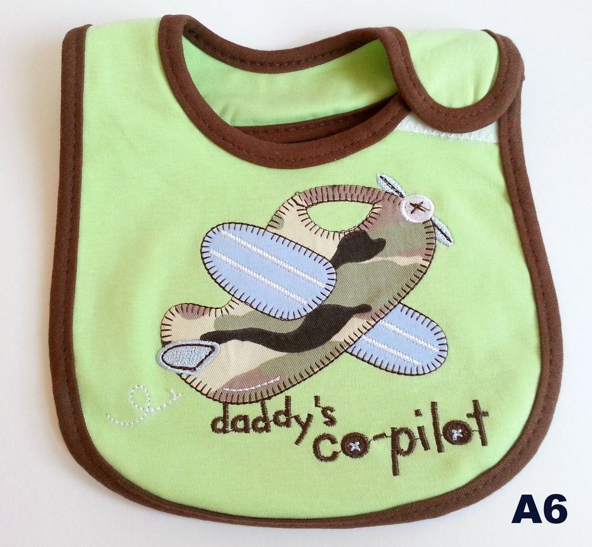 Colourful Baby World - Baby Boy's Bib - Daddy's Co-pilot, £2.99 (http://www.colourfulbabyworld.com/baby-boys-bib-daddys-co-pilot/)