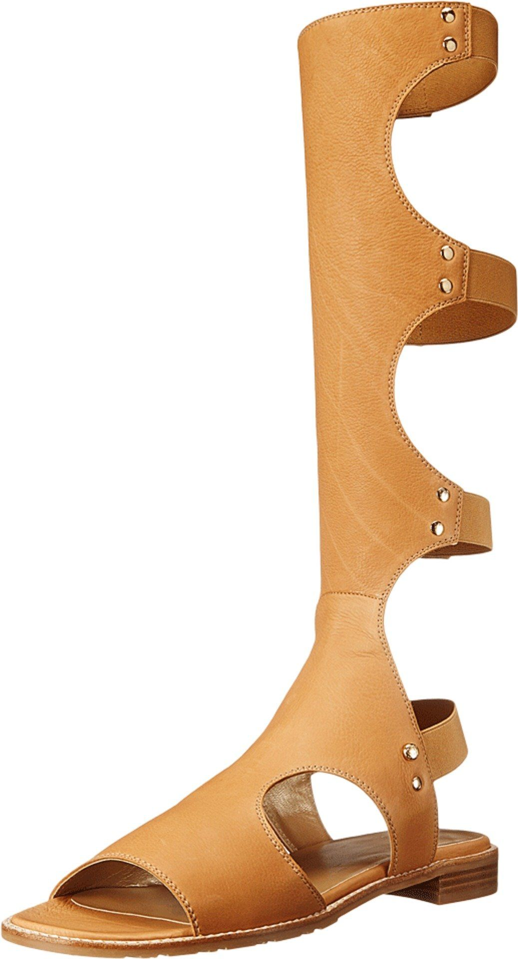 Stuart Weitzman Women's Backview Pecan Comfy Calf Sandal 4 M. Made in USA  or Imported.