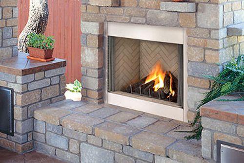 Lennox E420dgpe Outdoor Propane Fireplace W Traditional Brick