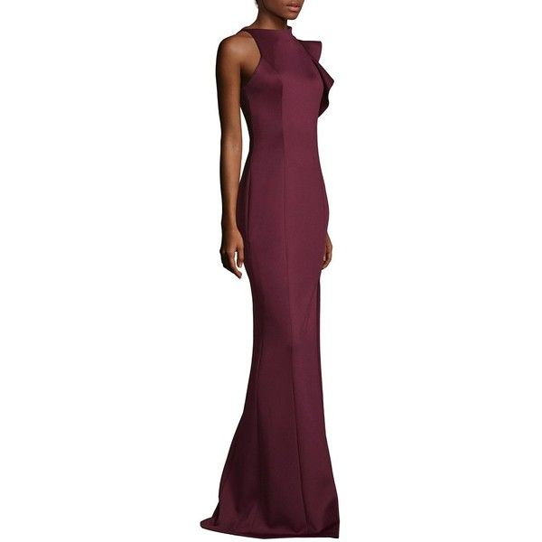 Black Halo Pabla Front High Slit Floor-Length Sheath Gown ($345 ...