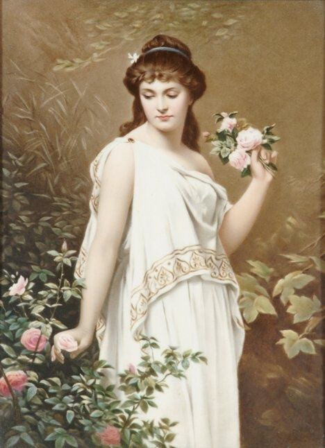 Collige, virgo, rosas dum flos novus et nova pubes, et memor esto aevum sic properare tuum. (Ausonio) Imagen: Friedrich Paul Thumann