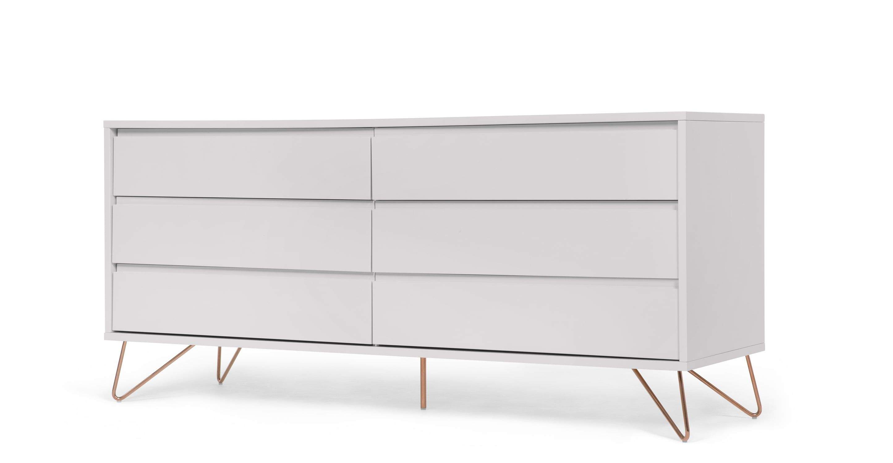 Elona Wide Chest Of Drawers Grey Copper Kommode Graue Kommode Schlafzimmer Kommode