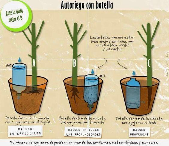 gerónimo de sade: auto-riegos caseros | plantas | pinterest | auto