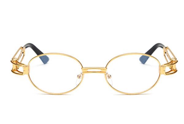 Men/'s Hip Hop Vintage Gold Frame Clear Lens Wood Glasses
