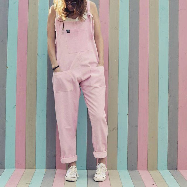 5c149d64aa6 The Original Corduroy Dungarees in Blush Pink by Lucy   Yak Handmade from a  midweight Autumn corduroy in a beautiful pink Perfect for any occasion any  time ...