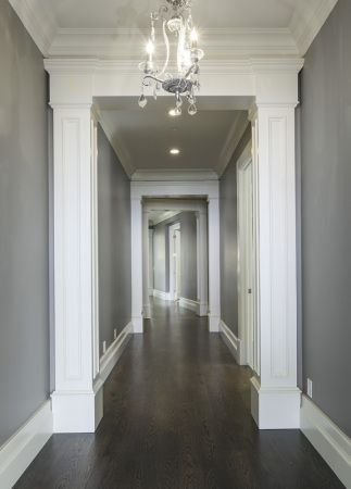 Grey Walls Dark Floors Dark Hardwood Flooring Grey Walls
