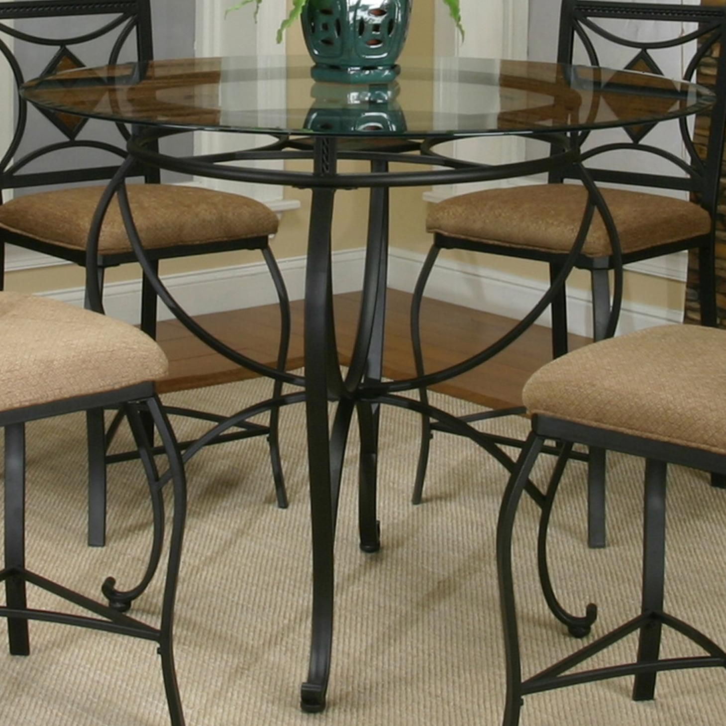 Cramco Inc Cramco Trading Company Glendale Round Metal Table W