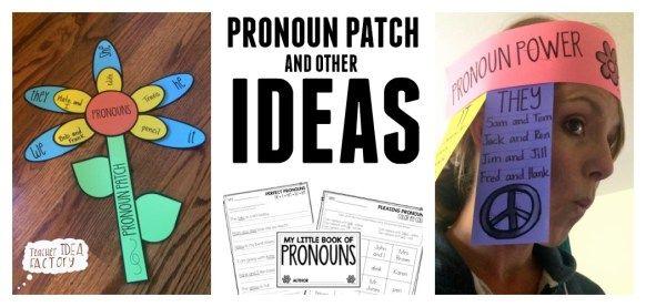 Pronoun Ideas and Activities