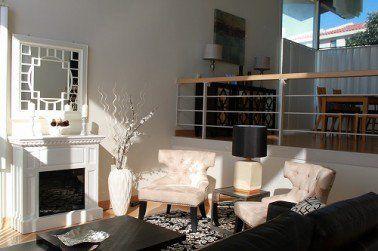 Black & White living room #interior design