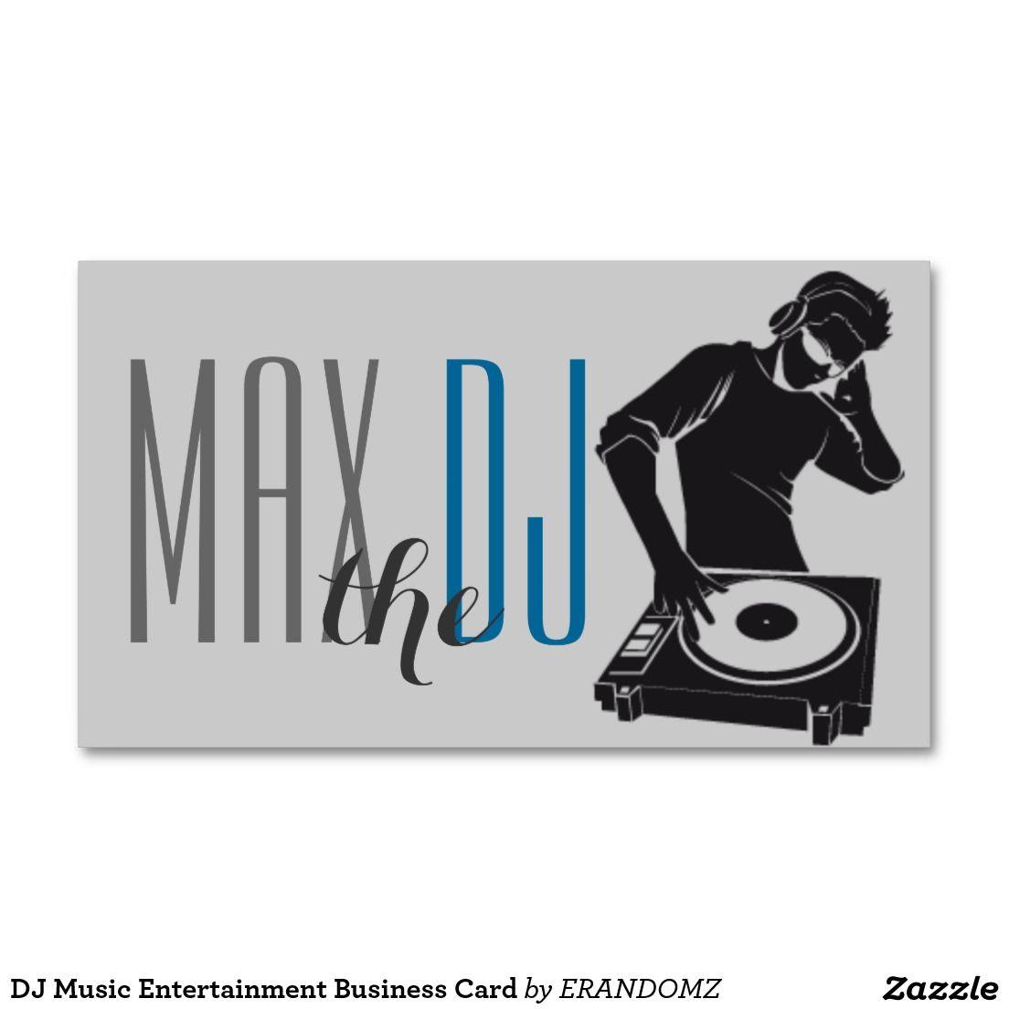 Dj music entertainment business card dj business cards pinterest dj music entertainment business card reheart Gallery