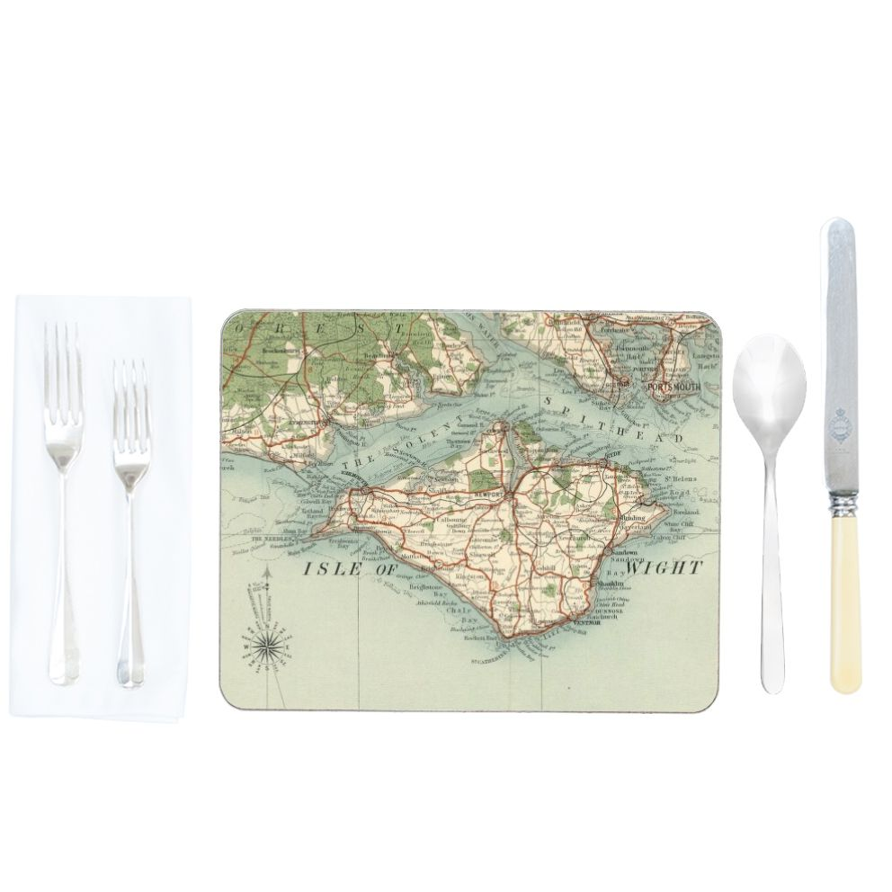 Personalised Placemats Personalised Placemats Vintage Map Placemats