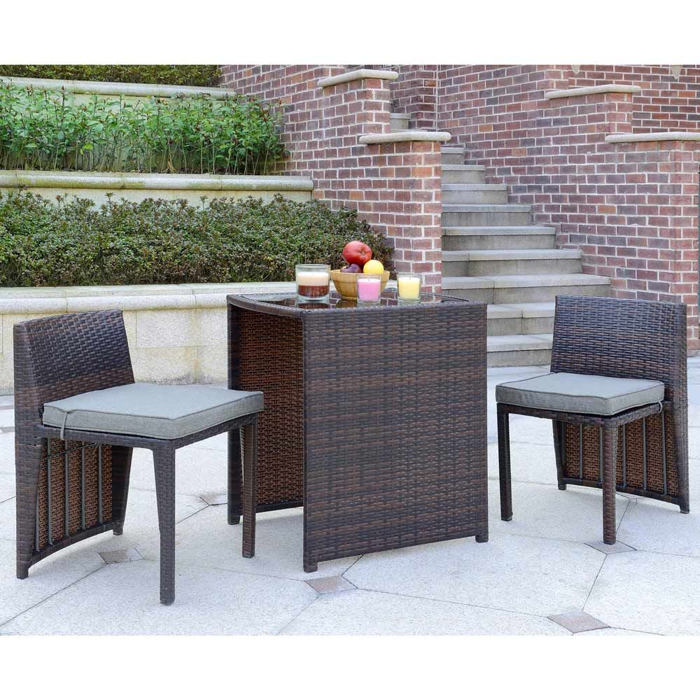 Buy Luxo Lucia Nesting PE Wicker Outdoor Leisure Setting ... on Luxo Living Outdoor id=74668