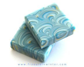 Peacock Swirl Soap | Handmade CP Soap by Fraeulein Winter